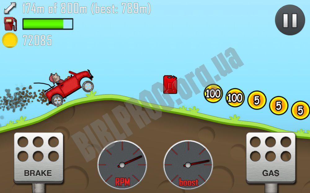 Скачать взломанную hill climb racing на компьютер