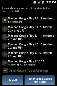 Modded Google Play Store