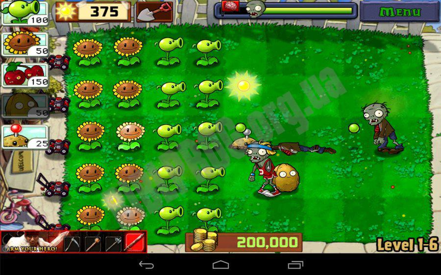 Plants vs zombies 6 android for Jardin zen plantas vs zombies