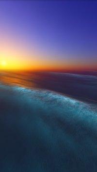 Sunset Ocean Wallpaper 3D