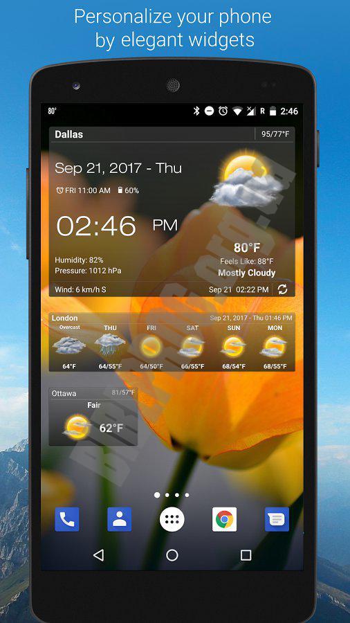 Weather clock widget скачать